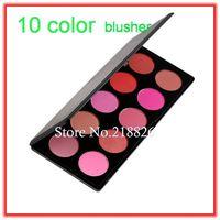 Fashion 10 Color Makeup Cosmetic Blush Blusher Powder Palette , free drop shipping