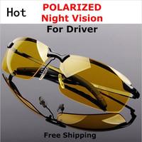 Free shipping hot night vision goggles Men anti-glare polarizer Brand Classic glasses driving mirror Yellow sunglasses
