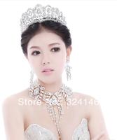 Nice rhinestone silver plated big Queen rhinstone bridal tiara wholesale  wedding crown