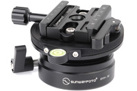 Free Shipping SUNWAYFOTO DYH-90i 90mm Leveling Base With 60mm Duo-Lever Clamp / Tripod