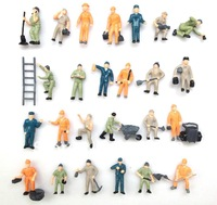 100pcs   1:87 Well Painted Figures Workers HO Scale
