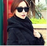 free shipping 2014 fashion star style all-match vintage sunglasses glasses female sunglasses male big frame myopia