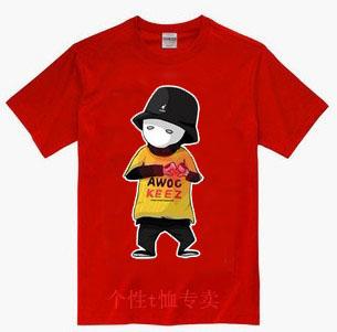 Roddy doughface jabbawockeez hip- hop camisa básica roupa T -shirt de manga curta masculina(China (Mainland))