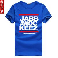2014 Mask hip-hop jabbawockeez short-sleeve T-shirt male basic shirt