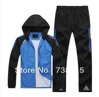 Free Shippig Best Brand Men Knit Sports Suit Track Suit Autumn Clothes Men Coat+pants 2pcs Sets Man Casual Sports Sweatshirt