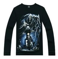 2014 spring designer brand mens sport personality 3d printed T-shirt Men Hip-Hop brand long-sleeved round neck t-shirt wholesale