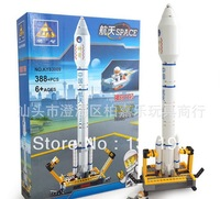 Kazi Assembling building blocks space series 83009 fire arrow airplane high quality children toys gift for boy