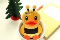 #20140109# 4pcs/lot Duck style Case for iphone 5 case for iphone 5s cover drop shipping good quality lower price