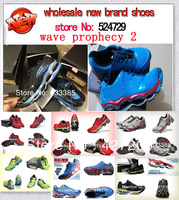 free shopping 2014 men wave prophecy 2 athletic Shoes.men's running shoes.summer breathable outdoor male sports shoes size 40-45