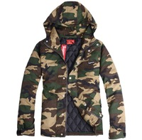 2014 New style winter wears supreme jacket men Supreme Camo hooded cotton-padded clothes Jackets size:M,L,XL P8059 free shiping