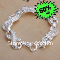 JH036 Lowest price Wholesale 925 sterling silver bracelet & bangle jewelry,  new jewelry Big White Dragon Bracelet apua jhba