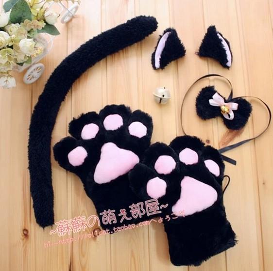 Хвост и ушки кошки своими руками