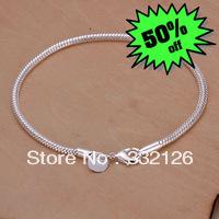 JH187 Lowest price Wholesale 925 sterling silver bracelet & bangle jewelry, 925 silver new jewelry 3mm Snake Bone Bracelet