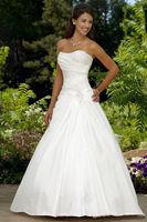 Top Quality Sweetheart White / ivory Wedding dress Customize 6-8-10-12-14-16 + + +