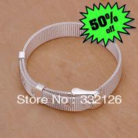 JH237 Lowest price Wholesale 925 sterling silver bracelet & bangle jewelry, 925 silver new jewelry Small Web Watch Belt Bracelet