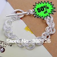 JH023 Lowest price Wholesale 925 sterling silver bracelet & bangle jewelry, 925 silver new jewelry Triple  Bracelet