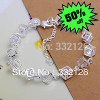 JH241 most popular factory Wholesale 925 sterling silver bracelet&bangle jewelry,fashion 925 silver  jewelry White Gem Bracelet