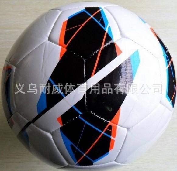 Free shipping 2014 new design soccer balls Size 5 official football match ball PU material ship randomly F27(China (Mainland))