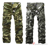 Fashionable Men's Camouflage Combat pants Multi-Pockets Military Cargo Trousers
