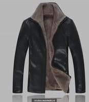 Free shipping leather jacket men long coat sheepskin outdoor jacket avirex leather bosco mackage  plus size coats 4x
