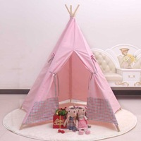 Christmas gift child cloth tent eco-friendly ultralarge wood play house tent
