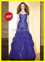 Wholesale - Custom 2012 Purple NEW sweet 16 Sweetheart A-line Beaded organza Fold Qninceanera Dress Prom Dresses