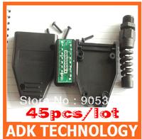 45pcs/lot OBD2 16Pin Connector obdii 16 pin Plug J1962 OBDII Connector OBD obdii obd2 Male Plug