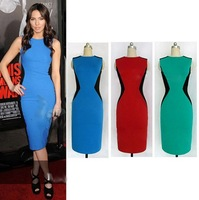 High Quality Summer Fashion Patchwork Bandage Dress,Women's Dresses Lady Party Bodycon Dresses Plus Size S M L XL XXL