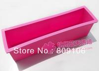 Wholesale , silicone Cake Mold soap mold Toast mold single hole Rectangle Capacity of 1000 g 24.5*5.6*7CM
