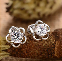 Earrings / 925 sterling silver / women / cute flowers jewelry / Fashion trinkets / Free Shipping