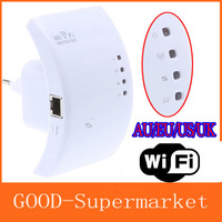 Wireless-N Wifi Repeater 802.11N/B/G Network Router Range Expander 300M 2dBi Antennas Signal Boosters Free Drop Shipping