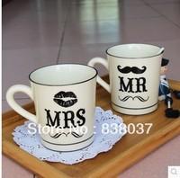 Free shipping Retro couple coffee mug ceramic cup creative cup English breakfast zakka single