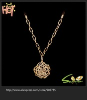 Wholesale Multilayer retro fashion  roses Gold Plated Necklace  gift