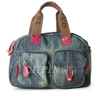 Denim bag 2014 spring one shoulder handbag cross-body women's leather handbag 0006