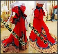 Ultimate luxury crystal formal dress formal dress toast the bride married formal dress evening dress 2014