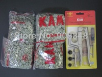 B30 Olive T3 KAM SNAPS FASTENER RESIN SNAP BUTTONS WITH TOOL SIZE 16 T3 CAPS 10mm 1000 SETS SNAPS + 1 pc KAM Snaps Plier