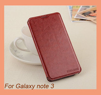 MQQ:1pcs Sale British Retro Luxury Leather Flip case for Samsung Galaxy Note 3 N9000,Stand Design Cover thin Card holder case
