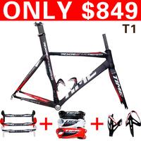 Sales package Time RXRS ulteam carbon 3k frameset/handlebar/stem/bottlecages,Carbon road bb30 bike parts free shipping