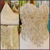 Royal princess 2013 bandage tube top train wedding dress bride xj088410