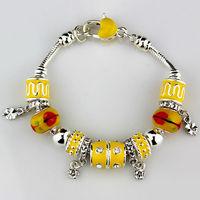 2014 NEW Fashion Beads Bracelet Bangle for Women&girl. Crystal bracelets chaim silver plated  Bracelets. Wholesale FREE SHIPPING