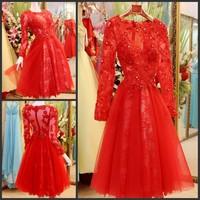 Ultimate luxury crystal formal dress formal dress toast the bride married formal dress evening dress xj19801