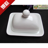 Ceramic butter plate cheese disk cheese dish bread plate tableware
