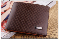FREE SHIPPING 1PCS Light Coffee Leather Wallet Purse Money Clip Billhold #24080