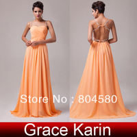 2014 New Fashion Charming Sweetheart Women Chiffon Evening Long Dress Formal Party Gown CL6025