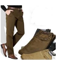 5 Color Autumn Spring Men Casual Fashion Business Pants Black Khaki Army green Gray Big Size 29-36 38 40 42 44