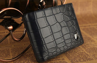 FREE SHIPPING 1PCS Crocodile Patten Leather Wallet Purse Money Clip at various colour