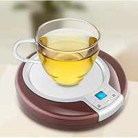 Intelligent cup electric heating mat base insulation heated coasters dish thermostated warm milk