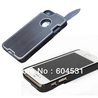 Free shipping 1 pcs New Arrival Outdoor Multifunctional Protector Case For iPhone5 5S With Knife