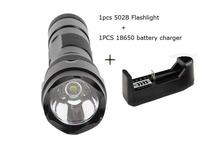 ultrafire wf 502b flashlight True 1600lm CREE XML T6 3/5 modes the most stable 502b flashlight+18650 Battery cgarger