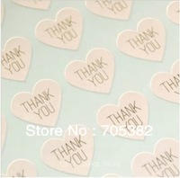 THANK YOU heart design Sticker Labels Seals.Diameter 3.8cm, Gift stickers for Wedding seals, Envelope (SS-7132)